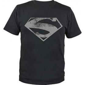 Superman T-Shirt Man of Steel Logo (L)