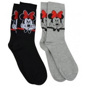 Disney pack 2 paires de chaussettes Minnie (M)