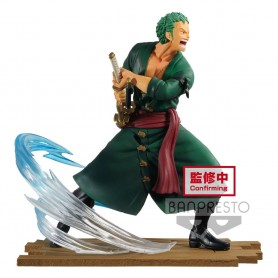 One Piece statuette PVC Log File Selection -Fight- Roronoa Zoro 14 cm