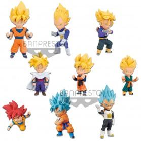 Dragon Ball Super Movie assortiment figurines WCF ChiBi 7 cm Saiyan Special (12)