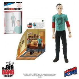 The Big Bang Theory figurine avec diorama Sheldon Riddler Shirt 10 cm