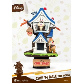 Disney Summer Series diorama PVC D-Stage Chip 'n Dale Tree House 16 cm