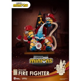 Minions diorama PVC D-Stage Fire Fighter 15 cm