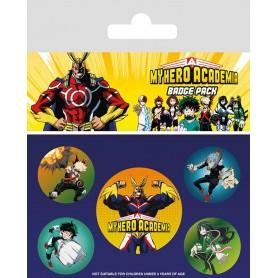 My Hero Academia pack 5 badges Characters