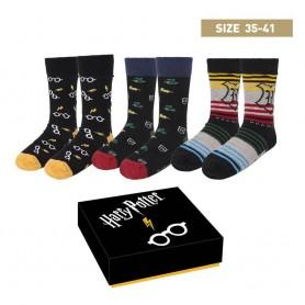 Harry Potter pack 3 paires de chaussettes Crests 35-41