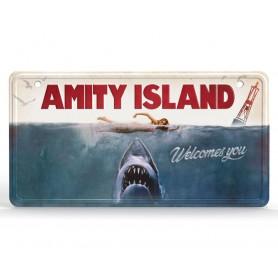 Les Dents de la Mer panneau métal Movie Poster