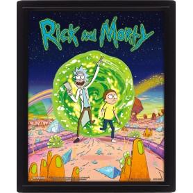 Rick et Morty pack posters effet 3D encadré Portal 26 x 20 cm (3)
