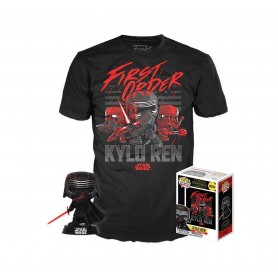 Star Wars Episode IX POP! & Tee set figurine et T-Shirt Kylo Ren (Supreme Leader) heo Exclusive (S)