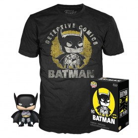 DC Comics POP! & Tee set figurine et T-Shirt Batman Sun Faded heo Exclusive (M)