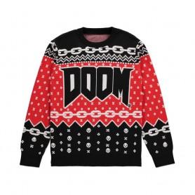 Doom Sweater Christmas Doom Logo (L)
