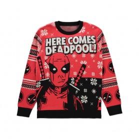 Deadpool Sweater Christmas Here comes Deadpool! (S)