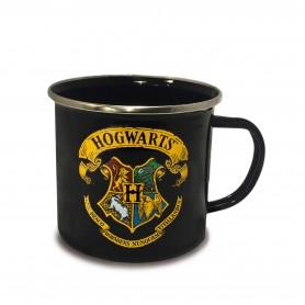 Harry Potter mug émail Hogwarts Logo