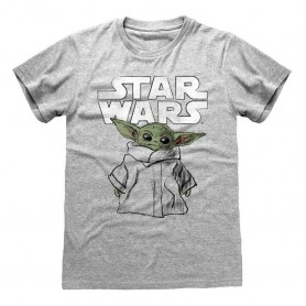 Star Wars The Mandalorian T-Shirt Child Sketch (XXL)