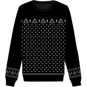 Harry Potter Sweater Christmas Deathly Hallows  (XL)