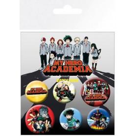 My Hero Academia pack 6 badges Mix