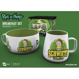 Rick et Morty set petit-déjeuner Get Schwifty