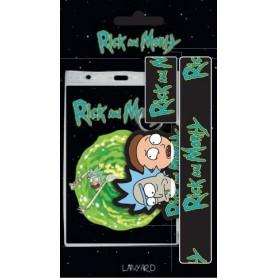 Rick et Morty dragonne avec porte-clés caoutchouc Rick & Morty