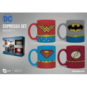 DC Comics pack 4 tasses Espresso Uniforms