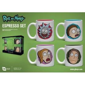 Rick et Morty pack 4 tasses Espresso Characters