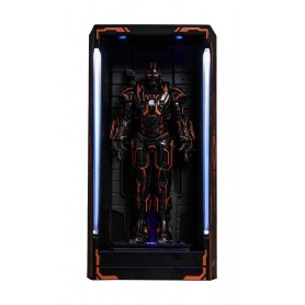 Iron Man 2 diorama MMS Compact Series Neon Tech War Machine Hall of Armor 12 cm