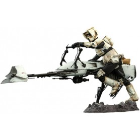 Star Wars The Mandalorian figurine 1/6 Scout Trooper & Speeder Bike 30 cm
