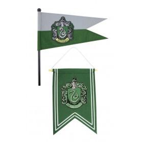 Harry Potter set bannière & drapeau Slytherin