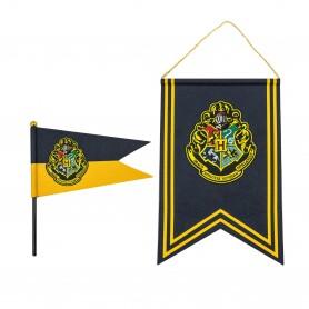 Harry Potter set bannière & drapeau Hogwarts
