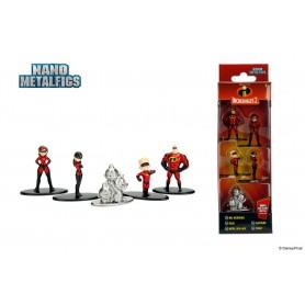 Disney pack 5 figurines Diecast Nano Metalfigs Incredibles 2 4 cm