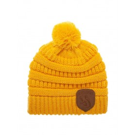 Harry Potter bonnet Pompon Hufflepuff Logo