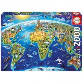 EDUCA - Puzzle Symboles du Monde 2000 pièces