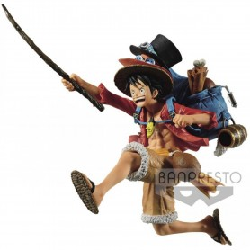 FIGURINE MONKEY.D.LUFFY THE THREE BROTHERS ONE PIECE BANPRESTO