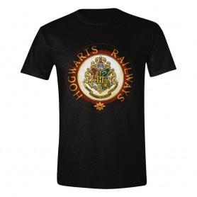 Harry Potter T-Shirt Hogwarts Railways Circle (L)