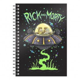 Rick & Morty cahier Space Ship