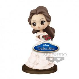 Disney Q Posket Petit Story Of Belle Ver E Belle White Dress 7cm