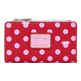 Disney Loungefly DISNEY - Portefeuille Minnie Mouse Pink Polka Dot -