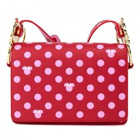 Disney Loungefly DISNEY - Sac À Main Minnie Mouse Pink Polka Dot Bow Strap - 24x18x06CM