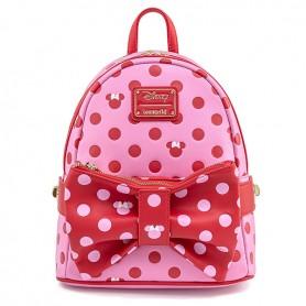 Disney Loungefly DISNEY - Mini Sac À Dos Minnie Mouse Pink Bow - 23x26x11CM