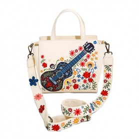 Disney Loungefly DISNEY - Sac À Main Coco Guitare Broderie Exclusivité Europe -  28x24x10CM
