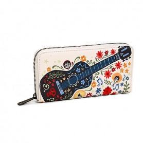 Disney Loungefly DISNEY - Portefeuille Coco Guitare Broderie Exclusivité Europe - 20x10CM