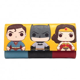 DC COMICS Loungefly - Portefeuille Justice League Pop Design -