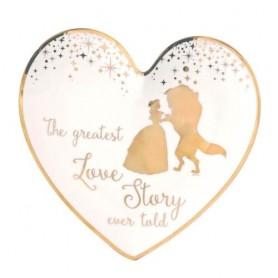 Enchanting Disney Collection Belle bague de mariage ornement plat- Enesco