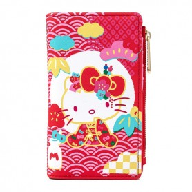Hello Kitty Loungefly - Portefeuille Sanrio 60e Anniversaire Pink Wave -