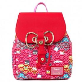 Hello Kitty Loungefly - Mini Sac À Dos Sanrio 60e Anniversaire Pink Wave & Gold Bow -  21x25x13CM