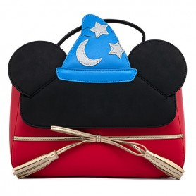 Disney Loungefly - Sac A Main Fantasia Mickey Mouse Sorcier - 29x21x09CM