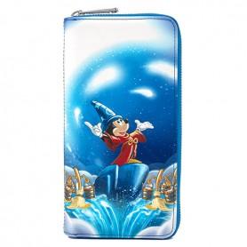 Disney Loungefly - Portefeuille Fantasia Mickey Mouse Sorcier - 10x20CM