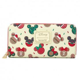 Disney Loungefly - Portefeuille Mickey & Minnie Xmas Cookies - 20x10x04CM