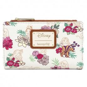 Disney Loungefly - Portefeuille Princess Floral - 16x10CM