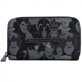 Disney Loungefly - Portefeuille Villains B&W - 16x9CM