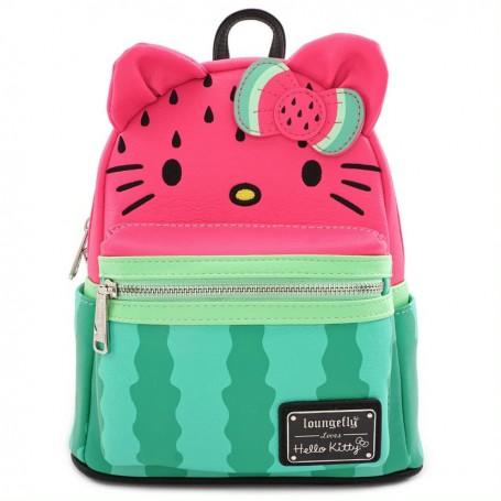 Hello Kitty Loungefly - Mini Sac A Dos Water Melon Hello Kitty - 23x26x11CM