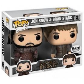 Game Of Thrones Pop - 2-Pack Jon Snow & Bran Exclusivité BAM - 10CM